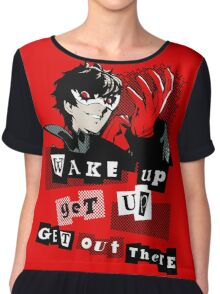 Wake up, Get up, Get Out There! - red Chiffon Top