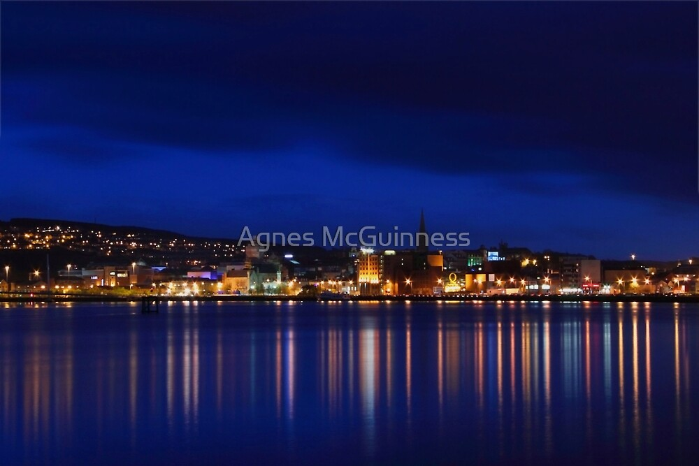 Night on the river by Agnes McGuinness