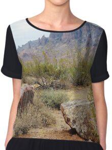 Superstition Mountain, Arizona Chiffon Top