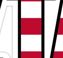 ZTA American Zeta Tau Alpha Sticker