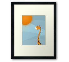 Orange and Sun Framed Print