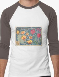 Ornamental Flowers Men's Baseball ¾ T-Shirt