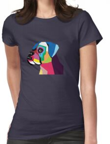 boxer  Womens Fitted T-Shirt