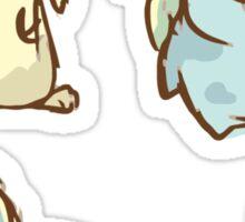 Sleepy Pastel Pokemon Sticker