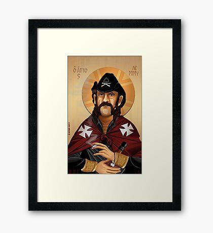 Saint Lemmy Framed Print