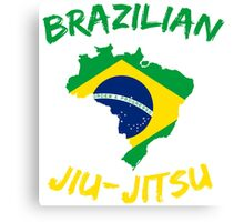 Brazilian Jiu-Jitsu Martial Arts Canvas Print