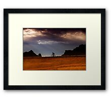 Sunrise over Badlands Window Trail  Framed Print