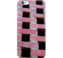Red Brick Checkers iPhone Case/Skin