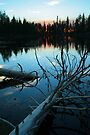 Sundown - Reflection Lake - Lassen Volcanic National Park by Harry Snowden