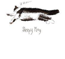 Sleepy Mog by quirkyquail