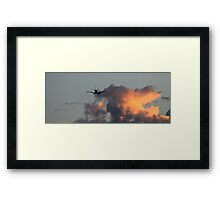 FLYING OFF TO THE SUN Framed Print