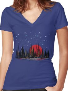 Seaport Women's Fitted V-Neck T-Shirt