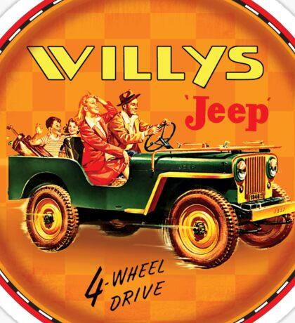 Willys post war Jeep Sticker
