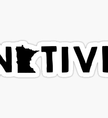 Minnesota Native MN  Sticker