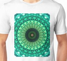 Mandala in different green tones Unisex T-Shirt