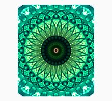 Mandala in different green tones Unisex T-Shirt
