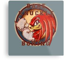 Bare Knuckle Boxing Metal Print
