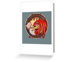Bare Knuckle Boxing Greeting Card