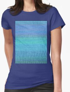 Woven Wonders Blue Womens Fitted T-Shirt