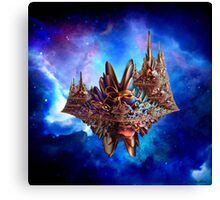 Alien city in the sky Canvas Print