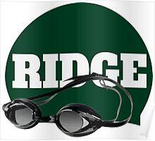 Ridge Swimming Cap and Goggles Poster