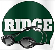 Ridge Swimming Cap and Goggles Poster