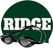 Ridge Swimming Cap and Goggles Photographic Print