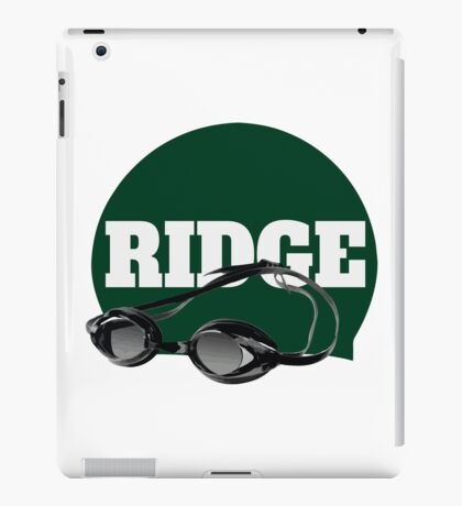 Ridge Swimming Cap and Goggles iPad Case/Skin