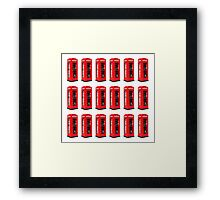 Montage of Red London Telephone Boxes Framed Print