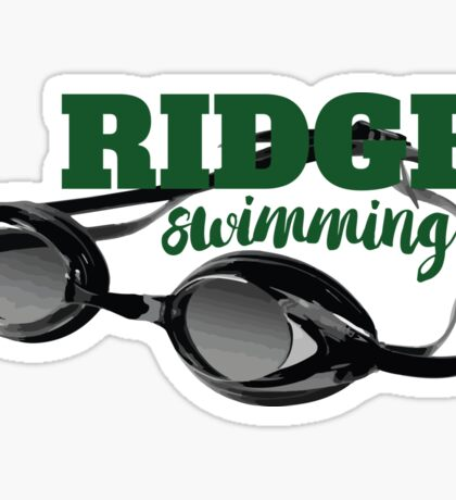 Ridge Swimming Goggles Sticker