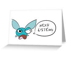 Angry Navi Hey Listen!! (Zelda) Greeting Card