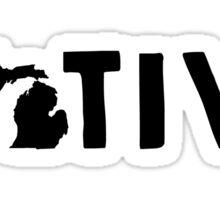 Michigan Native MI Pride Detroit Home Sticker