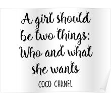 A Girl Should Be... Poster