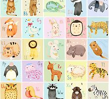 German Animal Alphabet by Judith Loske