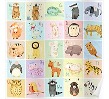 German Animal Alphabet Poster
