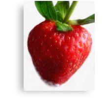 Red Ripe Strawberry Canvas Print