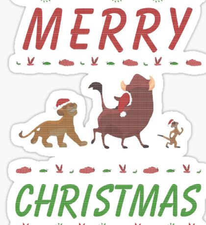 Lion King Ugly Sweater - Merry Christmas Sticker