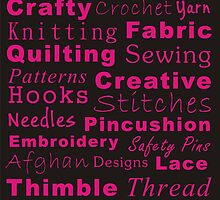 Crafty Text - Pink by Irena Paluch