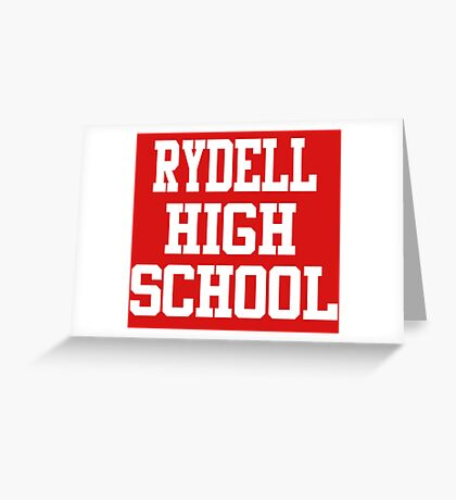 Grease - Rydell High School Greeting Card