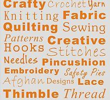 Crafty Text - Orange by Irena Paluch