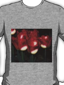 Red And White Tulips T-Shirt