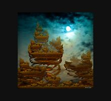 Golden castle and the moon Unisex T-Shirt