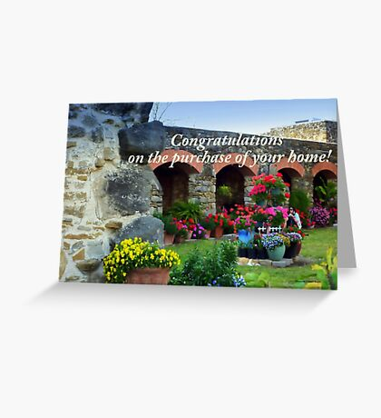 Flowers at Mission Espada Greeting Card