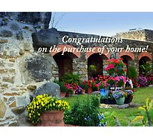 Flowers at Mission Espada Photographic Print