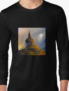 Golden castle and the sun Long Sleeve T-Shirt