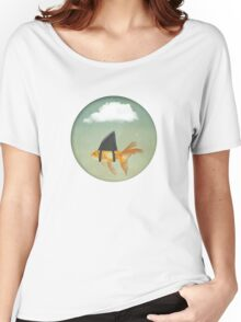 Under a Cloud, Goldfish with a Shark fin Women's Relaxed Fit T-Shirt