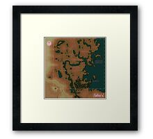 Fallout 4 Blank Map with Regions Framed Print