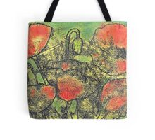 Paint and Ink Poppies Tote Bag
