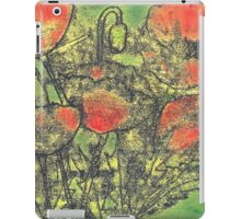 Paint and Ink Poppies iPad Case/Skin