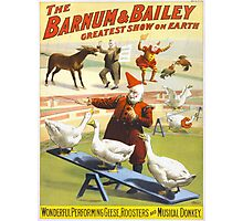 Vintage poster - Circus Photographic Print